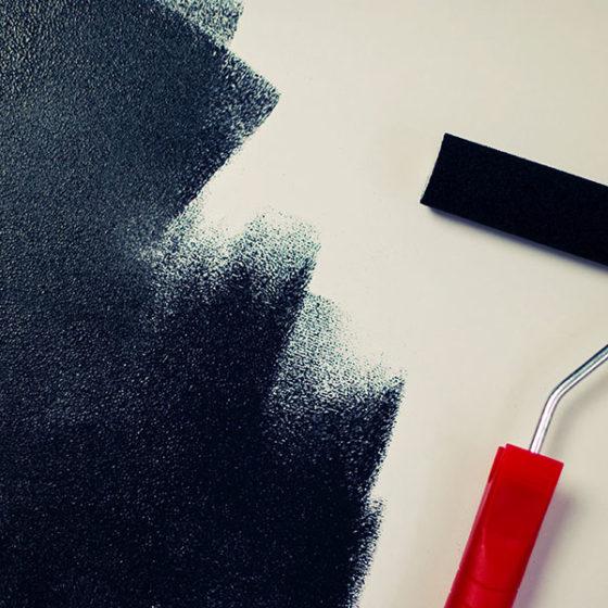 Painting Black Paint Roller