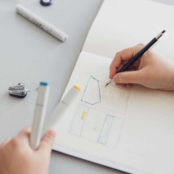 Konzeption Wireframe Webdesign