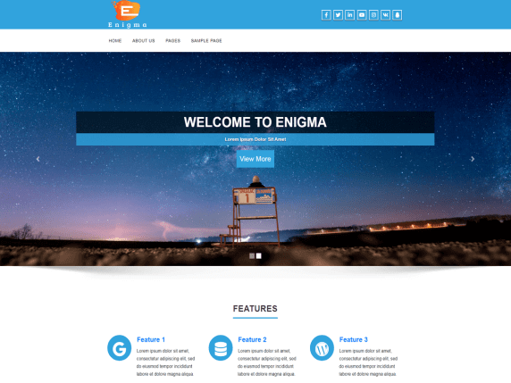 enigma wordpress screenshot