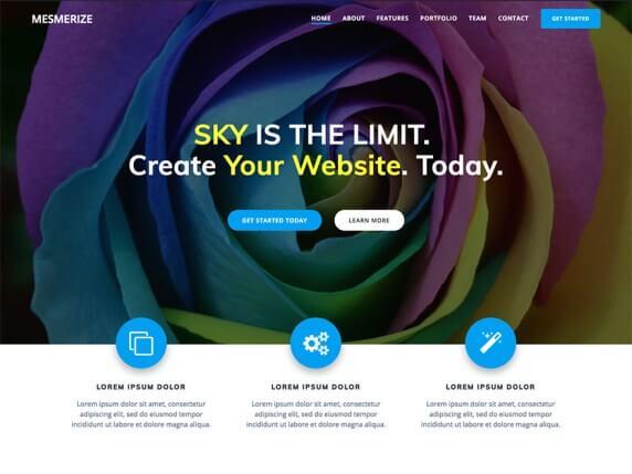 mesmerize wordpress screenshot